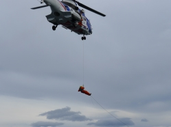 icelandic coast guard doing drills over our ship