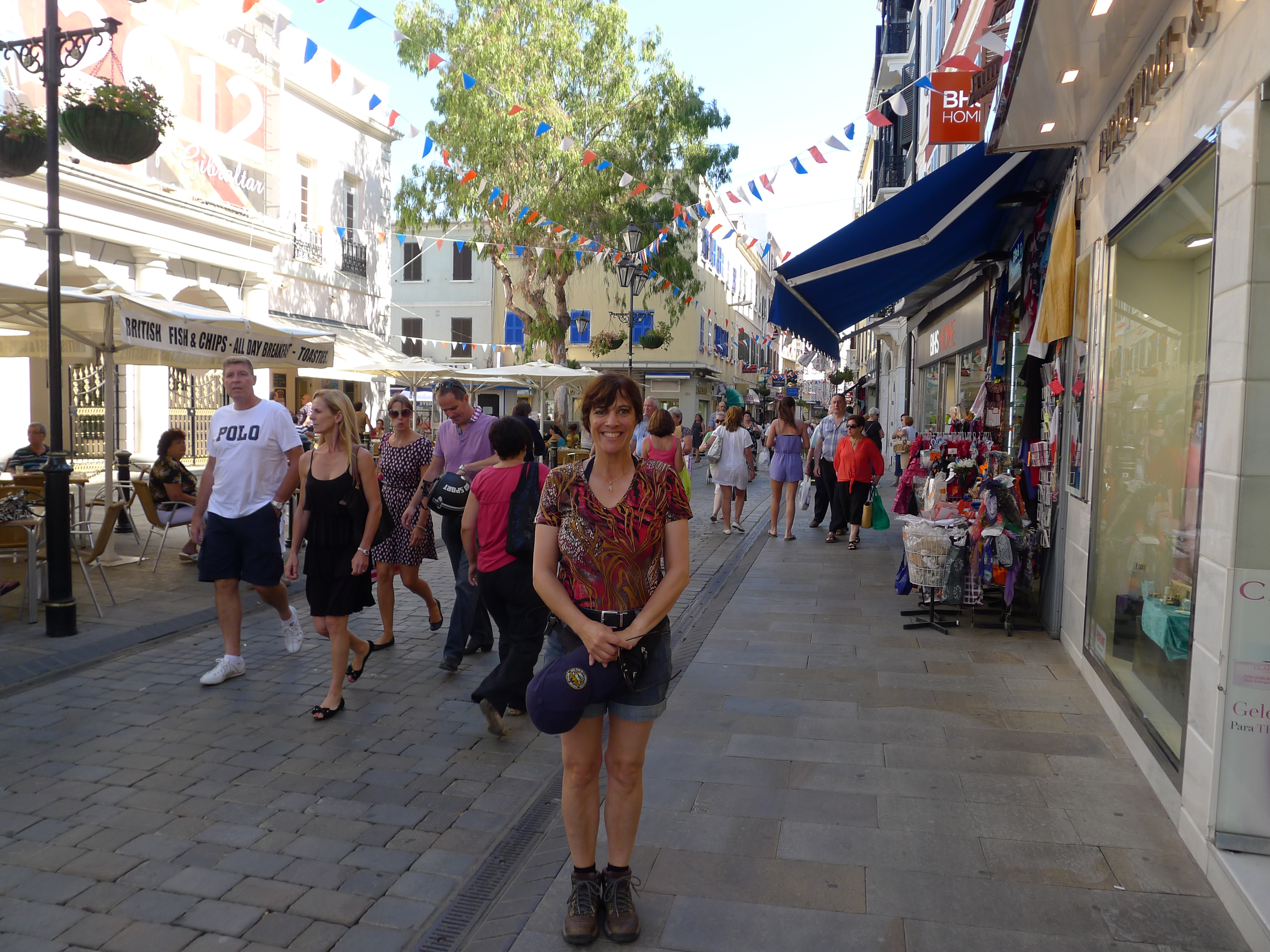 Kat on a Gibraltar street