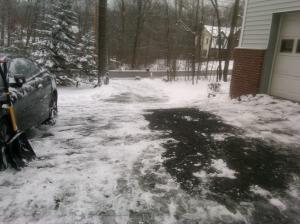 Kat's shoveled driveway