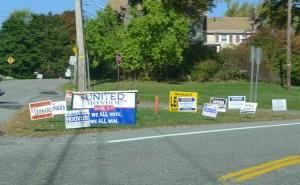 monroe ny local political signage