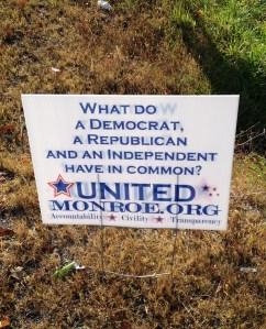 united monroe sign