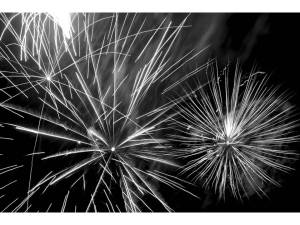 black and white fireworks