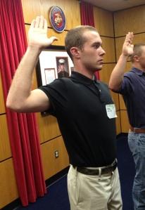 dan getting sworn in
